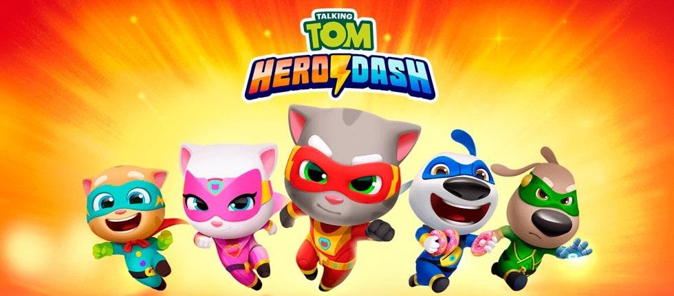 Talking Tom Hero Dash v1.7.0.989 Apk Mod Dinheiro Infinito